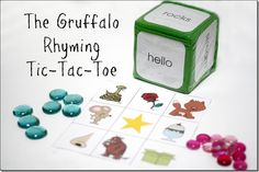 The Gruffalo is possibly one of our favorite books.  The boys love the story line and I enjoy the easy rhyming rhymes.  All in all, it's a really fun book. I wanted to create a rhyming ga...