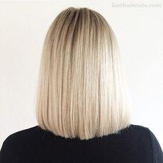 9 Simple Blunt Bob Hairstyles for Medium Hair #BobHaircuts