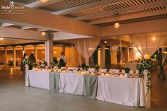 The family table at the wedding reception