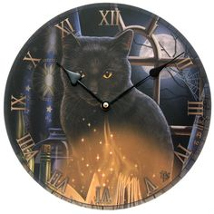 Bewitched Fantasy Cat Design Decorative Wall Clock Every room needs a clock and with our range of fantasy funky and colourful MDF picture clocks you