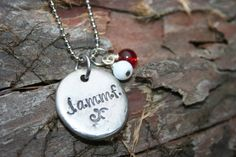 Hand Stamped Outlander necklace  James Alexander by taggyourit, $19.00