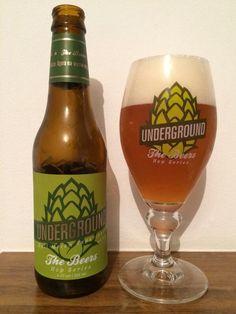 Cerveja Underground Hop Series Hull Melon, estilo American Pale Ale, produzida por Gaudenbier Cervejaria, Brasil. 5.8% ABV de álcool.