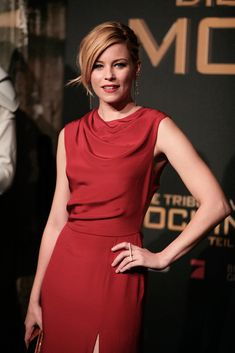 Elizabeth Banks is the lady in red.