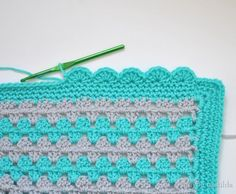 Scalloped Crochet Edging.