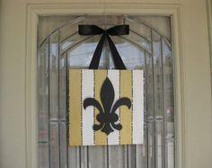New Orleans Saints Black Gold Chevron Fleur De Lis by grisgrisart