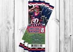 Texas Texans Ticket Invitation