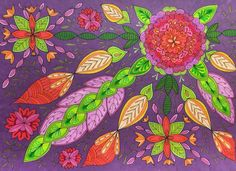 Coloring page from Mielikuvia vol 1 colouring book.