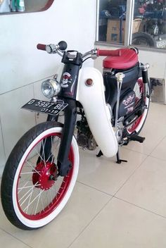 Visit the post for more. Honda Scooters, Motor Scooters, Honda Motorcycles, Vintage Motorcycles, Honda Cub, C90 Honda, Bobber Motorcycle, Moped Bike, Motorized Bicycle