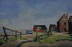 <b>Harold Steggles</b> <br  /> (British, 1911-1971) <br  /> Walberswick, Suffolk (circa 1960) <br  /> oil on board <br  /> 29 x 44.5cm