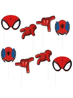 Spiderman Photo Booth Props - Spiderman and Party Supplies