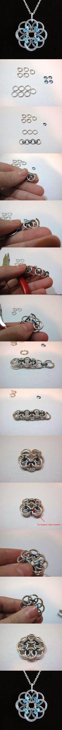DIY : Rose Wire Pendant