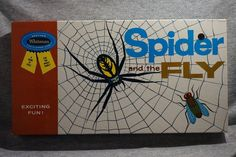 1962 Vintage SPIDER & The FLY Board Game UNUSED SEALED ~ GREAT SPIDER GRAPHICS