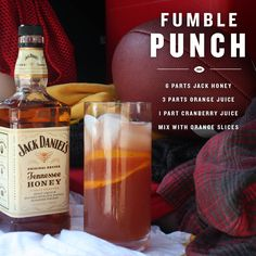 When a friend's team REALLY drops the ball, it's your job to remind them. Add a little insult & SHARE this drink. #JackFire #JackHoney #tailgate #cocktail
