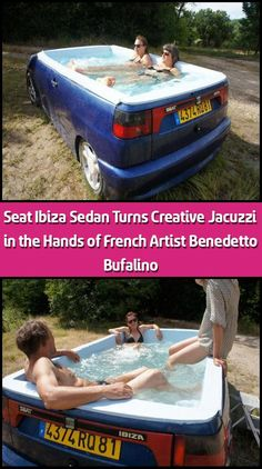 Seat Ibiza Sedan Turns Creative Jacuzzi in the Hands of French Artist Benedetto Bufalino Topics To Talk About, All You Can, Summer Heat, French Artists, Jacuzzi, Ibiza, Creativity, How To Remove, Relax