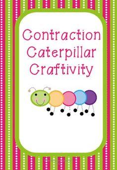 Caterpillar Contraction Craftivity {freebie!!!}