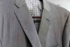 Love how this completely custom gray plaid suit turned out for one of our clients! Find out more about our custom clothing department at http://absolutelyfitting.com/custom-clothing/