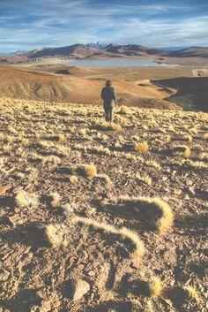 Rollin grasslands, volcanos and lakes - Bolivia.