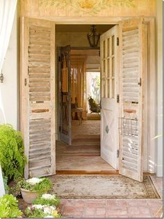 beautiful doors - click the link to a great blog about this beautifully remodeled home