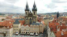 Praga - em destaque a Igreja Tyn