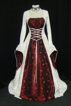 deguisement renaissance, robe de mariage, robe médiévale, robe Renaissance, fait sur commande, tailles plus