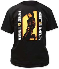 Joan Jett I Hate Myself For Loving you Tee Shirt