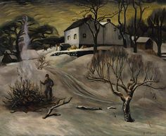 Winter Afternoon, 1934, Georgina Klitgaard, oil on canvas, 18 1/8 x 22 1/8 in. (46.1 x 56.1 cm), Smithsonian American Art Museum, Museum acquisition, 1969.194