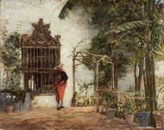 José Moreno Carbonero. Cortejo ante la verja, s.f. Colección Carmen Thyssen-Bornemisza en préstamo gratuito al Museo Carmen Thyssen Málaga