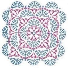 Transcendent Crochet a Solid Granny Square Ideas. Inconceivable Crochet a Solid Granny Square Ideas. Crochet Square Blanket, Granny Square Crochet Pattern, Crochet Pillow, Crochet Diagram, Crochet Chart, Crochet Squares, Thread Crochet, Crochet Granny, Granny Squares