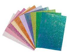 Glitteres kartontömb, kb.115 x 210 mm 215 g/m², egyik oldalon irizáló