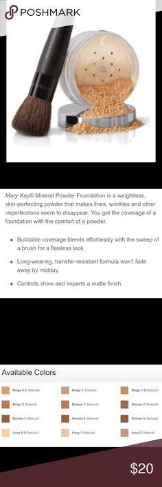 BEIGE 0.5 mineral powder Mary Kay mineral powder foundation BEIGE 0.5 Mary Kay Makeup Foundation