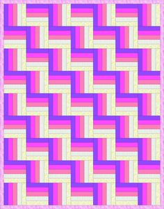 Five-strip Rail Fence Quilt Pattern