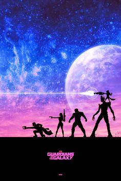 New GUARDIANS OF THE GALAXY Poster By Matt Ferguson, Plus Three New Official T-Shirt Designs!   Guard the Galaxy