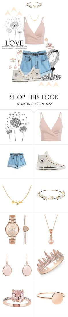 """L • O • V • E"" by galaxygirl12427 ❤ liked on Polyvore featuring jcp, WithChic, Converse, Cult Gaia, Michael Kors, LE VIAN and Anne Sisteron"