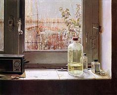 """Isabel Quintanilla ( Madrid 1938 - ) """" Junto a la ventana """""""