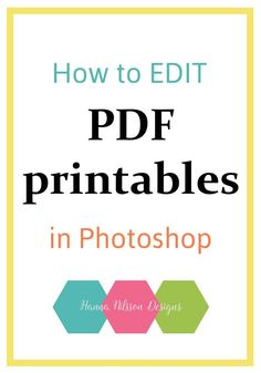 How to edit PDF printables in Photoshop Natural Brushes, Modern Photography, Photoshop Brushes, Planner Inserts, Photoshop Tutorial, Repeating Patterns, Weekly Planner, Free Printables, Pdf