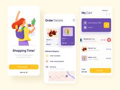 Delivery App by Paul Horbachev Mobile Ui Design, App Ui Design, Library App, Delivery App, Ui Web, Motion Design, Mobile App, Packaging Design, Design Inspiration