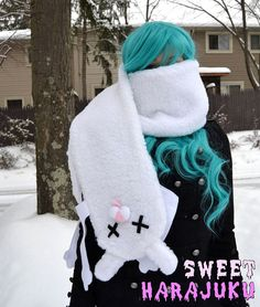 Dead bunny scarf by SweetHarajuku on Etsy, $12.00