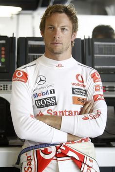 Jenson Button - Formula One Driver. I think I might start watching racing!