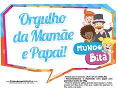 Plaquinhas divertidas Mundo Bita 14 Digital, Logos, Day, Lucas 2, Bernardo, Gabriel, Yuri, Princess, Archangel Gabriel