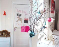 that little reindeer banner on the door kills me!
