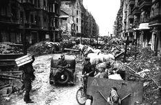 Street-scene in Berlin after it fell.