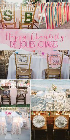 Idée décoration de mariage: les chaises