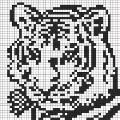 11296_Black_and_White_Tiger_Face_for_Perler_or_Square_Stitch.png