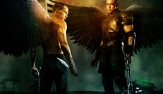 The Archangel Michael(left) and the Archangel Gabriel (right) via Legion (2010 film) | Pinned Time: 20150519 (Taipei)