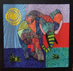 """close up, """"Meet Ellie"""" by Debbie Pryor.  Design by Barbara Jones; photo by Quilt Inspiration"""