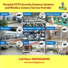 Hospitals Security and wireless video surveillance cameras with security Guru Video Surveillance Cameras, Cctv Security Cameras, Security Camera System, Surveillance System, Home Security Systems, Wireless Camera, Bullet Camera, Wireless Security, Asset Management