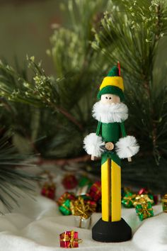 Pinspot Elf Clothespin Ornament by Pinspot on Etsy