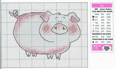 Cross-stitch Farm Life, part 4 ~ Pig...   Solo Patrones Punto Cruz | Aprender manualidades es facilisimo.com