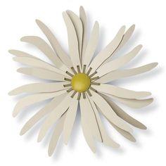 Foreside Home and Garden Zinnia Wall Flower Seafoam - 78110