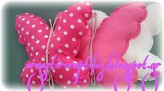Butterfly pillows. Μαξιλαράκια πεταλούδες